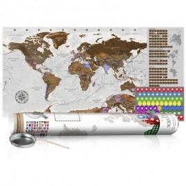 Mapa para rascar - Grey Map - Poster (English Edition)