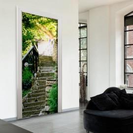 Fotomural para puerta - Stony Stairs