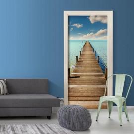 Fotomural para porta - Turquoise Harbour