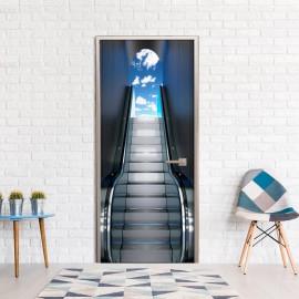 Fotomural para porta - Escalator