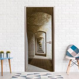 Fotomural para porta - Mysterious Corridor