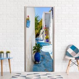 Fotomural para puerta - Blue Alley