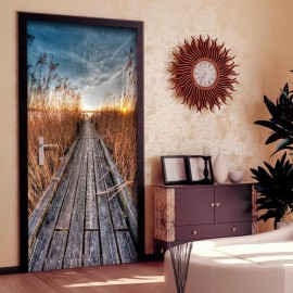 Fotomural para porta - Photo wallpaper - Pier on the lake I