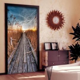 Fotomural para puerta - Photo wallpaper - Pier on the lake I