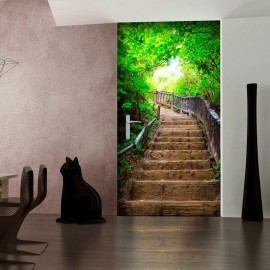 Fotomural para puerta - Photo wallpaper – Stairs from nature I