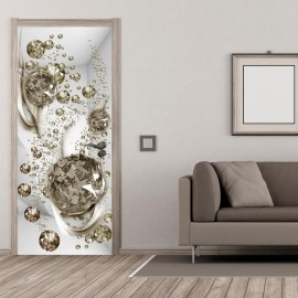 Fotomural para puerta - Photo wallpaper - Bubble abstraction I