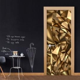 Fotomural para porta - Photo wallpaper - Golden Geometry I
