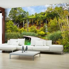 Fotomural autoadhesivo - Green oasis