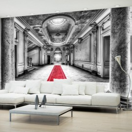 Papel de parede autocolante - Mystery marble - black and white