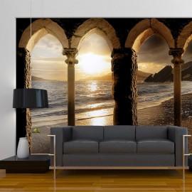 Fotomural autoadhesivo - Castillo en la playa
