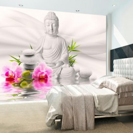 Fotomural - Buddha and Orchids