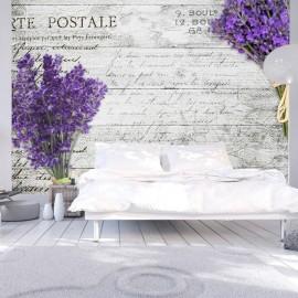 Papel de parede autocolante - Lavender postcard