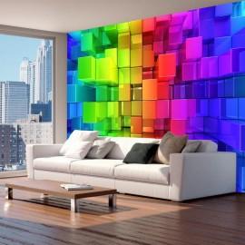 Fotomural autoadhesivo - Colour jigsaw