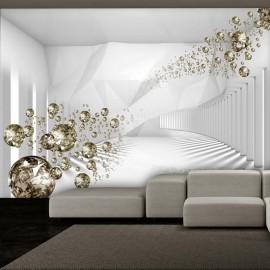 Fotomural autoadhesivo - Diamond Corridor (Grey)