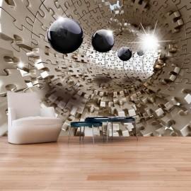 Papel de parede autocolante - Golden Jigsaw