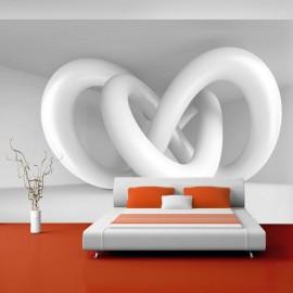 Papel de parede autocolante - White weave