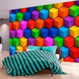 Papel de parede autocolante - Colorful Geometric Boxes