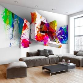Papel de parede autocolante - Three-dimensional Shapes