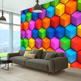 Fotomural autoadhesivo - Rainbow Geometry