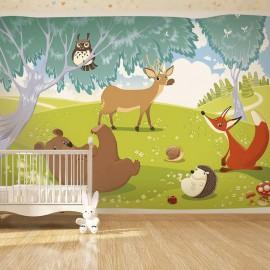 Papel de parede autocolante - Funny animals