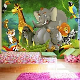 Papel de parede autocolante - Colourful Safari