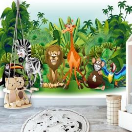 Papel de parede autocolante - Jungle Animals