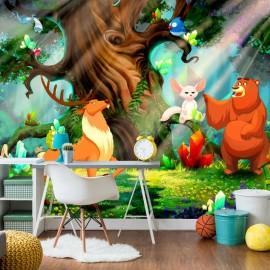 Papel de parede autocolante - Bear and Friends
