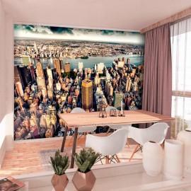 Papel de parede autocolante - Bird's Eye View of New York