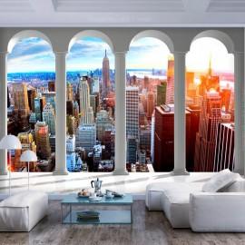 Papel de parede autocolante - Pillars and New York