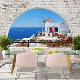 Papel de parede autocolante - Summer in Santorini