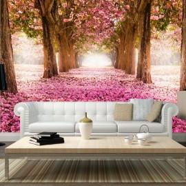 Fotomural autoadhesivo - Arboleda rosa