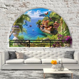 Papel de parede autocolante - Window in Paradise
