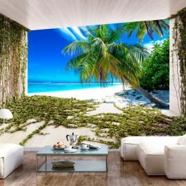 Papel de parede autocolante - Beach and Ivy