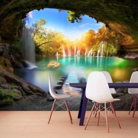 Papel de parede autocolante - Turquoise Lake