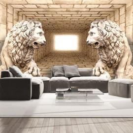 Papel de parede autocolante - Mystery of lions