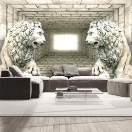 Papel de parede autocolante - Chamber of lions
