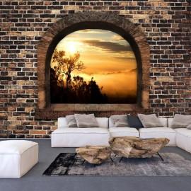 Fotomural autoadhesivo - Stony Window: Morning Mist