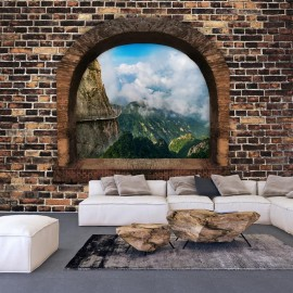 Papel de parede autocolante - Stony Window: Mountains