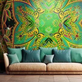 Papel de parede autocolante - Mandala: Emerald Fantasy