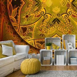 Papel de parede autocolante - Mandala: Golden Poem