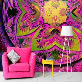 Papel de parede autocolante - Mandala: Pink Expression