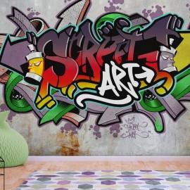 Fotomural autoadhesivo - Street Classic (Reggae Colours)