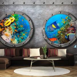 Papel de parede autocolante - Window to the underwater world