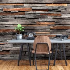 Papel de parede autocolante - Cedar Smell (Grey and Brown)
