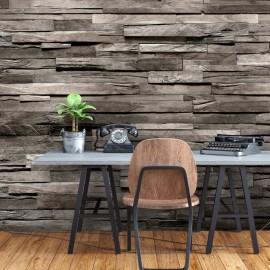 Papel de parede autocolante - Cedar Smell (Dark Brown)