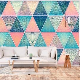 Fotomural autoadhesivo - Oriental Triangles
