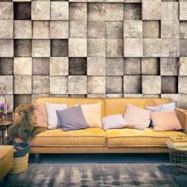 Papel de parede autocolante - Beige Squares
