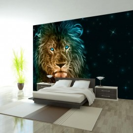 Papel de parede autocolante - Abstract lion...