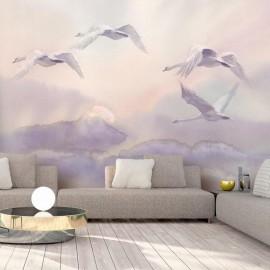 Fotomural - Flying Swans