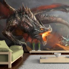 Fotomural autoadhesivo - Fuego del dragón